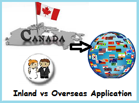 I want to sponsor my wife should I use an inland or overseas application