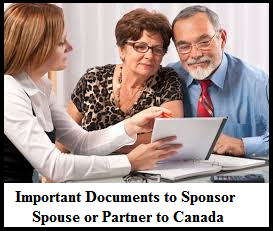 Important Documents to Sponsor Spouse or Partner to Canada