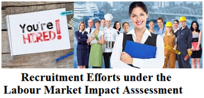 Recruitment Efforts under the Labour Market Impact Assessment