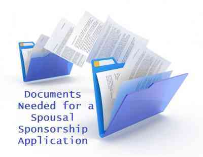 Documents Needed for a Spousal Sponsorship Application