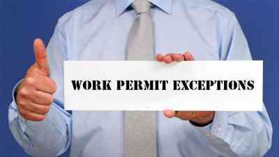 Work Permit Exceptions