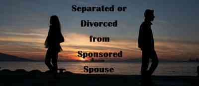 Separated or Divorced from Sponsored Spouse