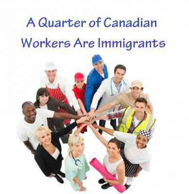A Quarter of Canadian Workers Are Immigrants